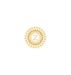 letter z initial logo for wedding boutique luxury vector image