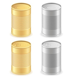 metal tin can 01 vector image