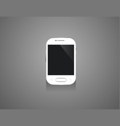 Mobile mini smartphones mock-up in white colors vector