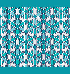 Moroccan style mosaic pattern vector