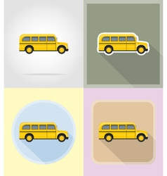 old retro transport flat icons 13 vector image