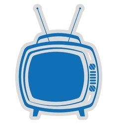 old tv isolated icon design vector image