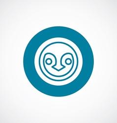penguin icon bold blue circle border vector image