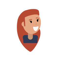 portrait woman happy image vector image