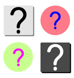 question mark flat icon vector image
