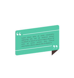 Quote text box bubble for comment mark design vector