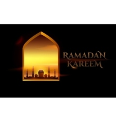 Ramadan Kareem beautiful greeting card for holy vector image