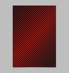 retro halftone circle pattern background page vector image