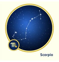 Scorpio constellation vector image