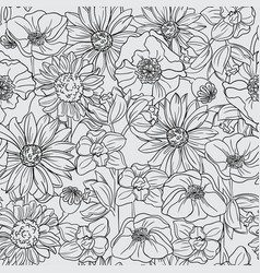 Seamless pattern with fruit blossom vector