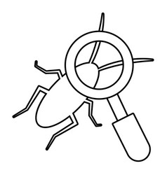 search insect icon outline line style vector image
