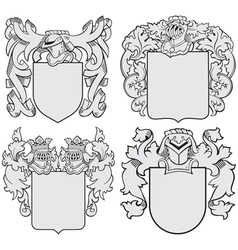 set aristocratic emblems no6 vector image