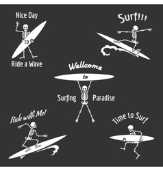 Skeleton surfer vector