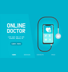 smartphone healthcare application vector image