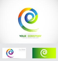 Spiral swirl logo vector