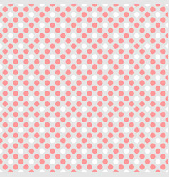 Tile pattern with pink white polka dots on grey vector