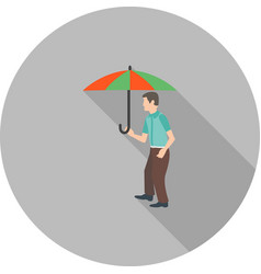 Walking in rain vector