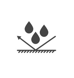 Waterproof protection icon vector