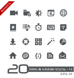 web and mobile icons-4 - basics vector image