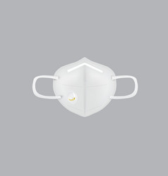 White mask with filter vector