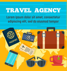 world travel agency concept background flat style vector image