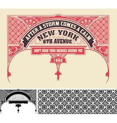 Card retro style Design elements vector image vector image