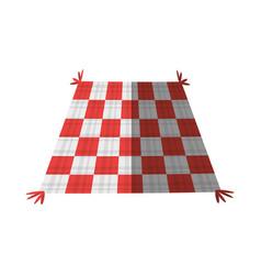Checkered tablecloth picnic shadow vector