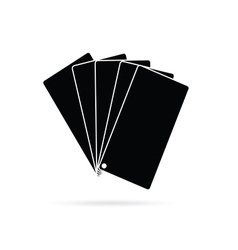 four black color vector image