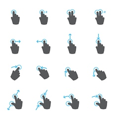 Mobile Gestures vector image