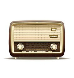 Old radio vector image