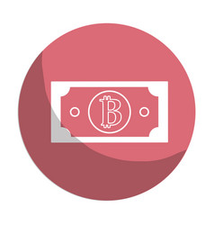 Sticker digital bitcoin bill and electronic vector