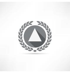 triangle icon vector image vector image