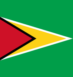flag in colors of guyana image vector image vector image