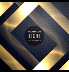 luxury gold light effect frame to enhance your vector image vector image