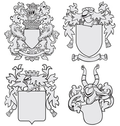 set of aristocratic emblems No7 vector image