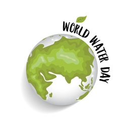 World water day concept with globe vector image