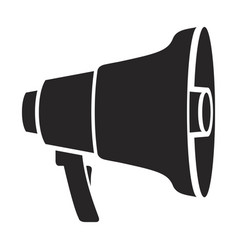 black silhouette of megaphone icon vector image