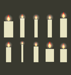 christmas candles in a flat design vector image