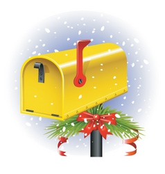 Christmas letter box vector image vector image