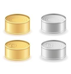 metal tin can 03 vector image
