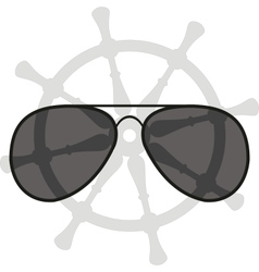 sunglasses and helm vector image