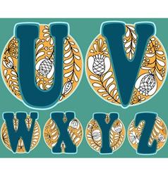 UVWXYZ vector image