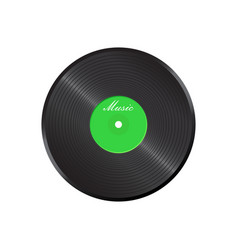 vinyl disk music disk sound record vector image