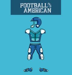 american football armour vector image