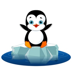 Penguin on Ice vector image vector image