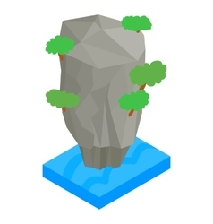 Thailand island icon isometric 3d style vector image vector image
