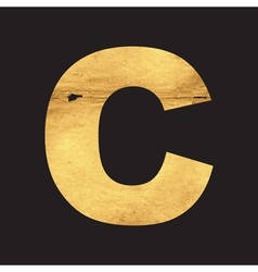 Uppercase letter C of the English alphabet vector image