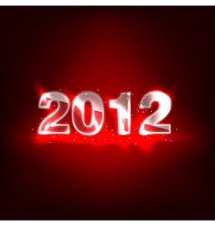2012 new year numbers vector image