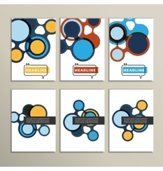 Abstract bright circles on a white background vector image