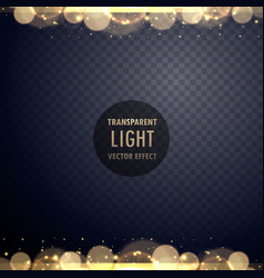 Abstract golden bokeh light effect with sparkles vector